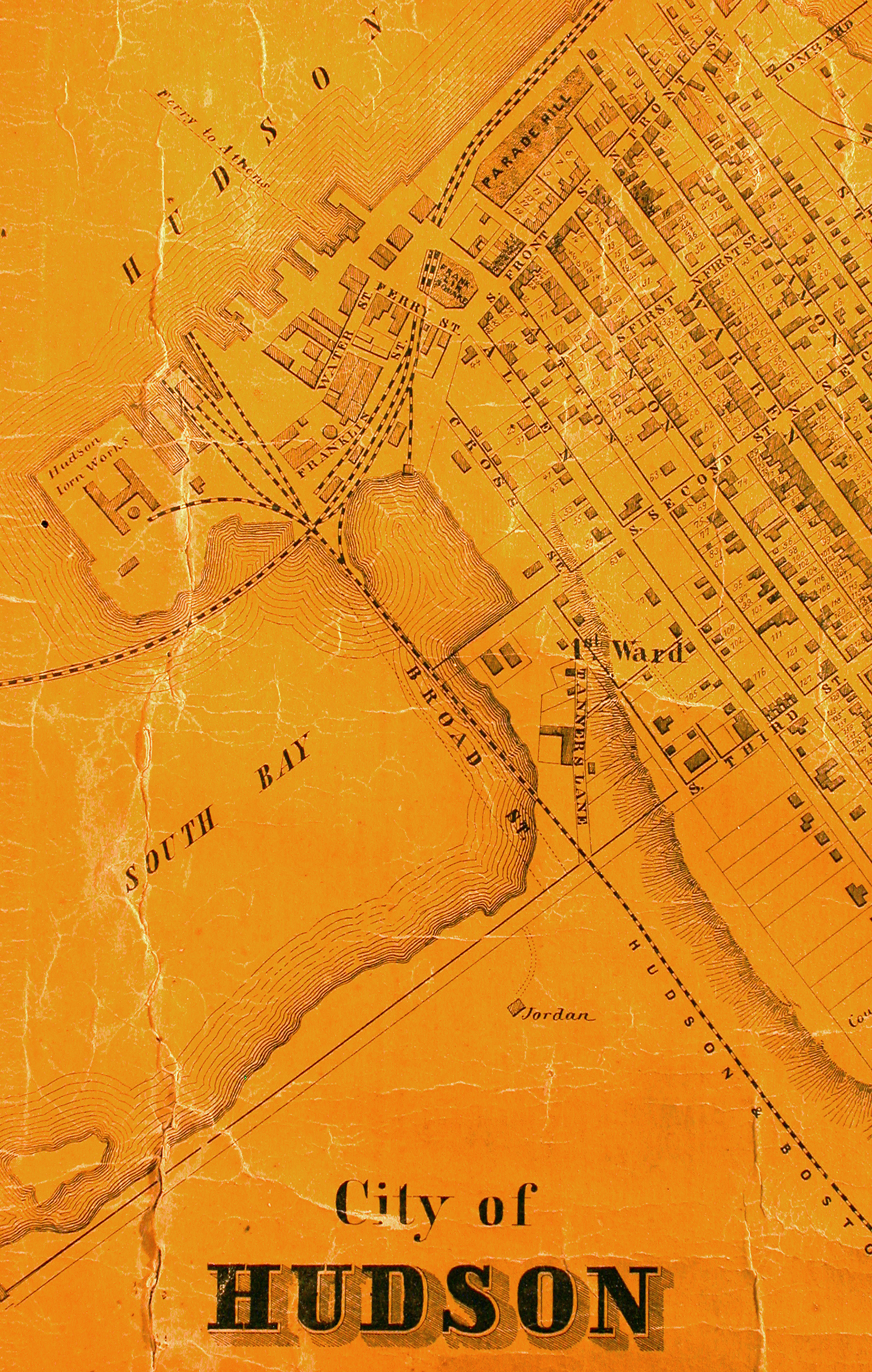 19th Century map of South Bay and Hudson